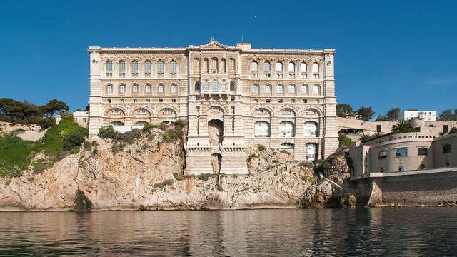 Lusso e cultura a Monaco con ingresso al Museo Oceanografico.