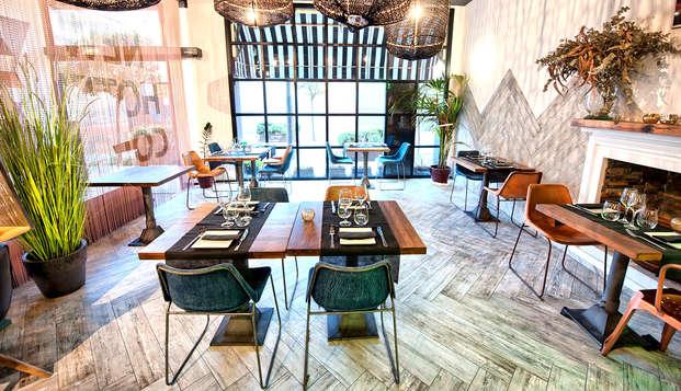 Escapada con cena en un hotel de estilo Vintage industrial en Mataró