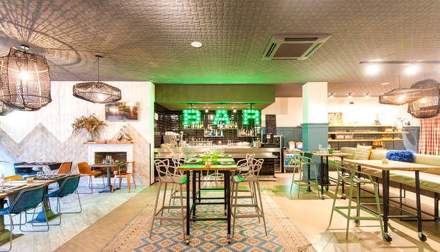 Escapada con cocktail en un hotel de estilo Vintage - Industrial en el centro de Mataró (2 noches)