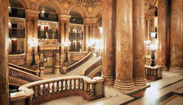 Admira la Ópera Garnier con una estancia 4* en París