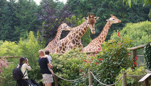 Séjour en famille avec entrée au Zoo de la Bourbansais