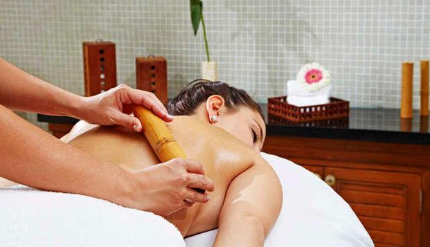 Escapada Relax con detalle romántico en habitación panorámica con acceso VIP al Spa y tratamiento