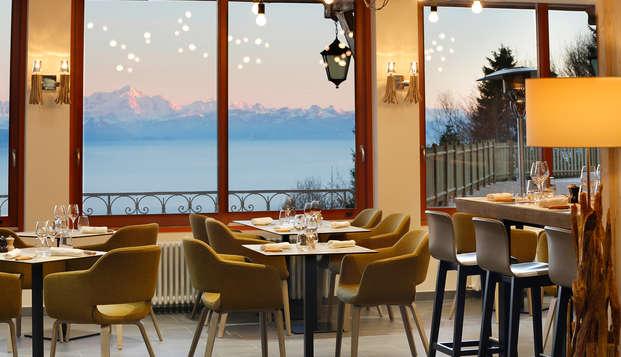 Séjour gastronomique face au Mont-Blanc !