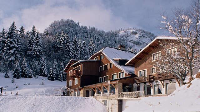 Escapade avec dîner au coeur des montagnes, avec une vue magnifique sur le Mont-Blanc !
