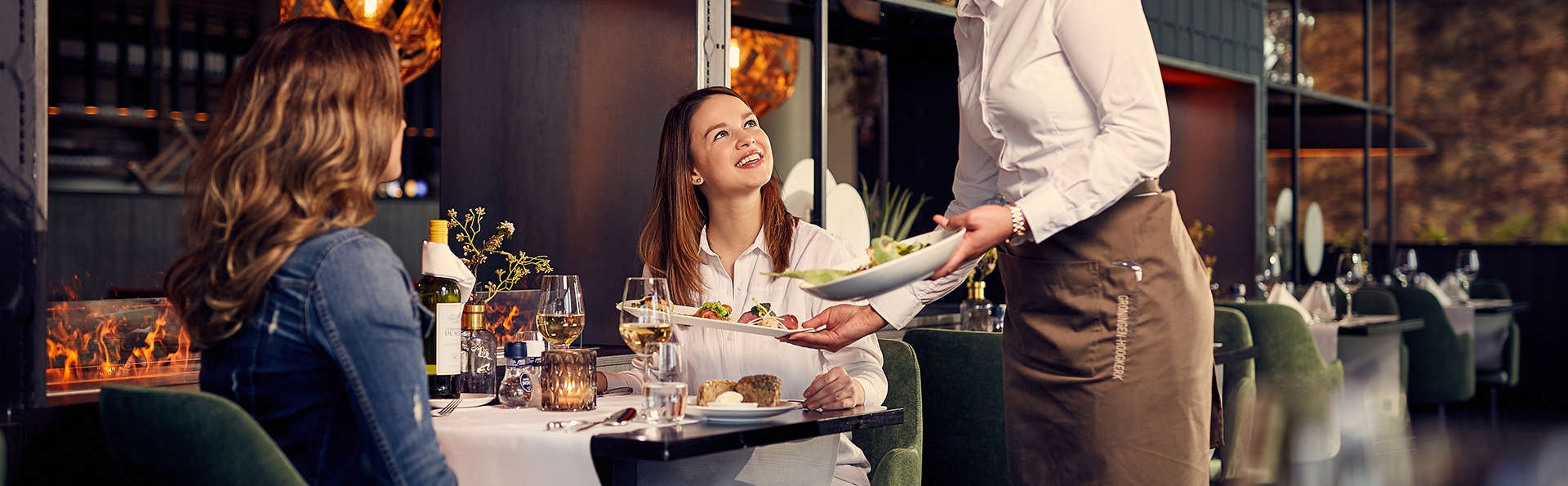 Mini-vacances à Groningue avec dîner à 3 services (demi-pension, 2 nuits)