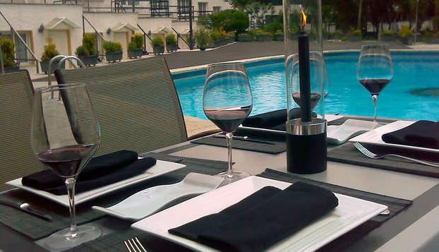 Escapada en Madrid con cena en un hotelito con piscina