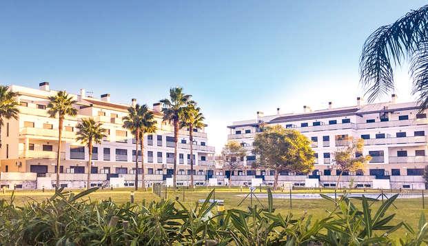 Desconexión cerca del mar en un lujoso complejo de apartamentos en Oliva