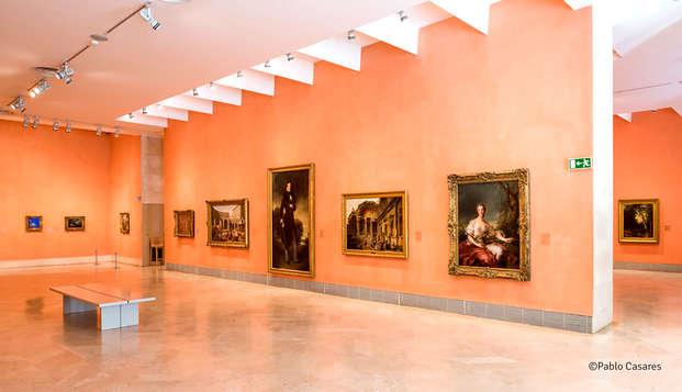 Visita al Museo Thyssen durante su escapada en la capital en un hotel de 4 estrellas.