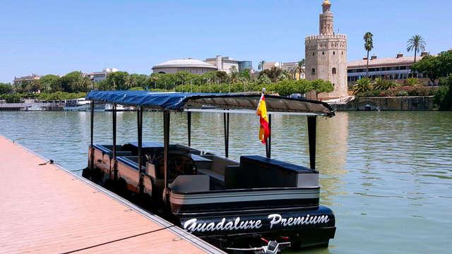 Visite de la magnifique ville de Séville en navigant sur le Guadalquivir