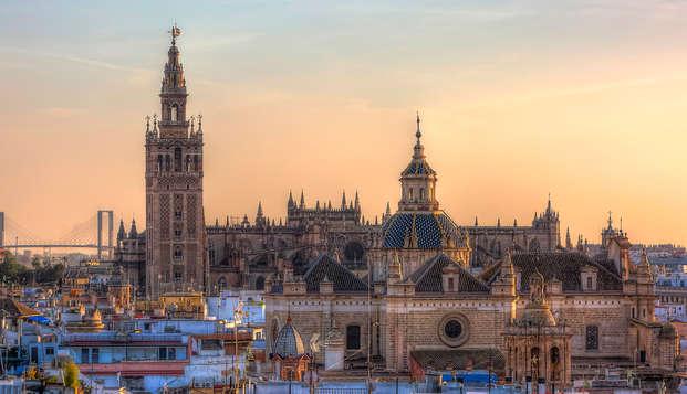 Découvrez Séville et son centre historique depuis le quartier de Santa Cruz.