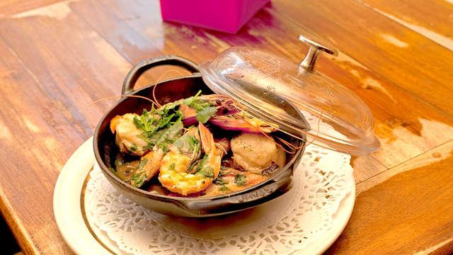 Week-end avec assiette de fruits de mer royale (dont 1/2 homard par personne) sur la côte normande