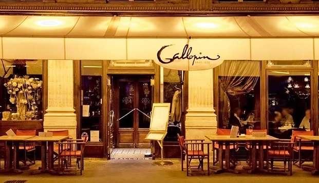 Citytrip deluxe à Paris avec dîner à la Brasserie Gallopin