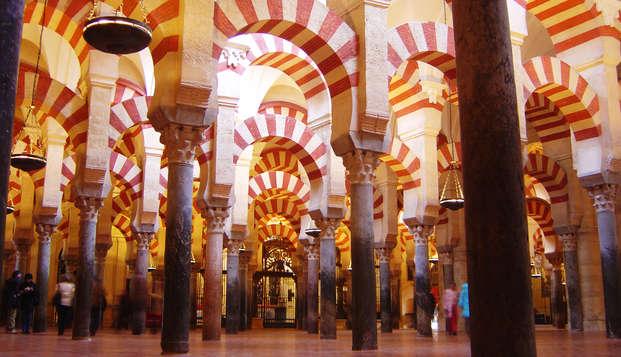 Escapada con visita a la Mézquita, botella de cava, bombones y parking en Córdoba