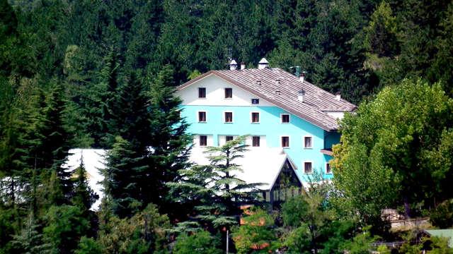 Dans le cœur du parc national du Gran Sasso avec vue panoramique