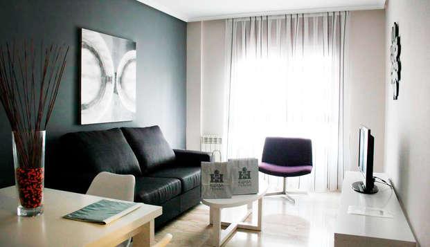 Apartamento de lujo con 2 habitaciones en pleno centro de Zaragoza