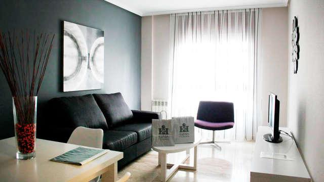 Appartement deux pièces pour 4 personnes en plein centre de Saragosse avec entrées au casino