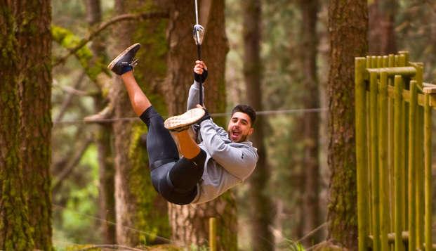Tirolinas y adrenalina en Forestal Park en Tenerife