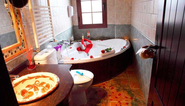 Nature et romantisme avec jacuzzi privé dans la chambre