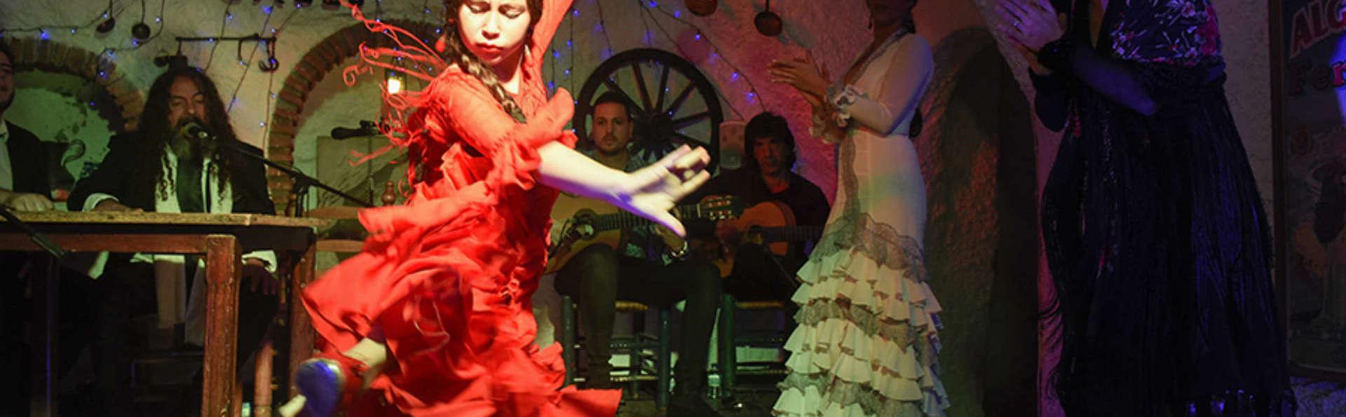 Hôtel de luxe 5* et flamenco à Venta del Gallo dans le Sacromonte avec parking inclus