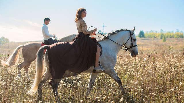 Paseo a caballo entre viñedos, visita a Bodega y alojamiento en un 4* de Logroño