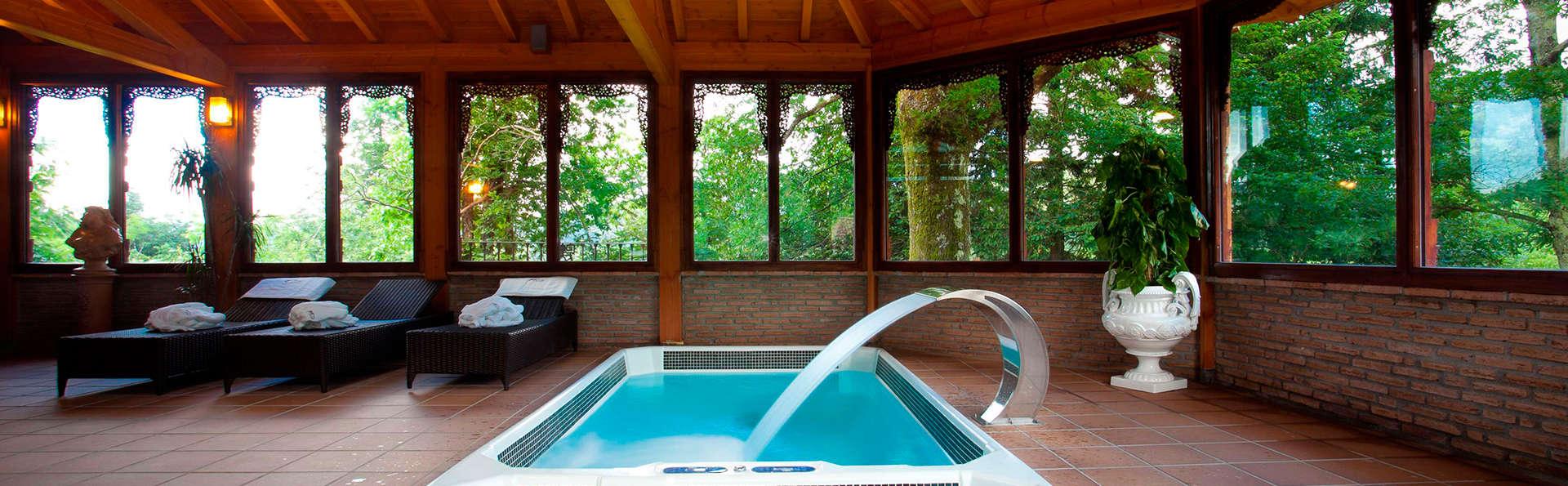 Week-end avec baignoire à bulles dans le parc naturel de Gorbeia