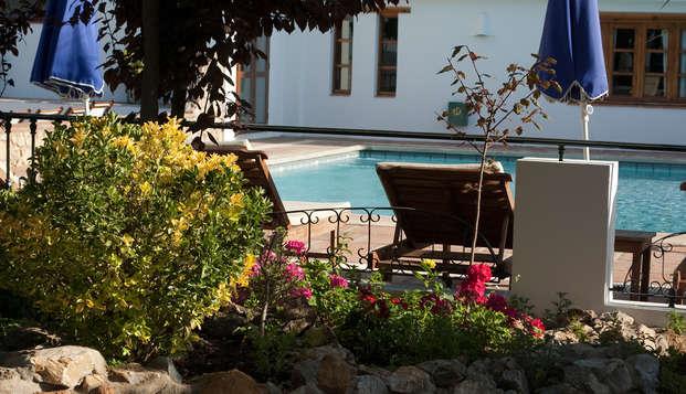 Disfruta de la naturaleza y la mejor gastronomía en Lanjarón, con cena y botella de vino