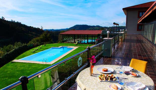 Placeres de la vida en Asturias: menú degustación y acceso al Spa