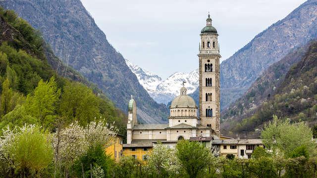 Encanto en la frontera con Suiza, a orillas del río Adda