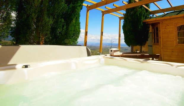 Escapada relax: sesión de spa privado con increíbles vistas a la Sierra de las Nieves