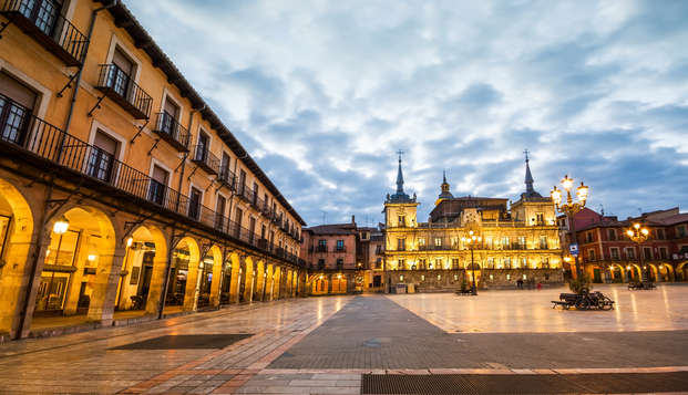 Escapada romántica con cena y spa en pleno centro de León