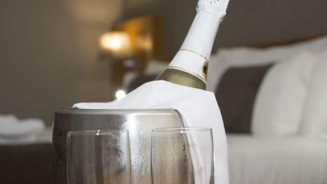 Botella de vino espumoso