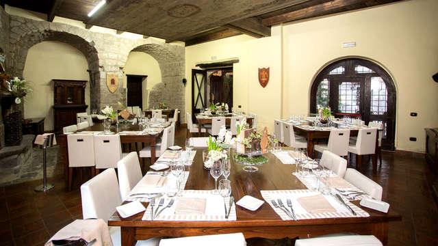 Deliziosa cena gourmet nel suggestivo castello di Limatola