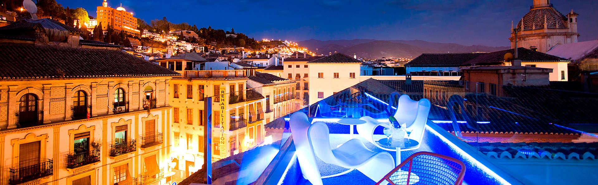 Escapade au centre de Grenade : luxe, design, terrasse luxueuse et accès au spa