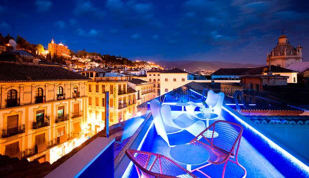 Experiencia en habitacion y spa de diseño vanguardista para hacerte soñar en Granada