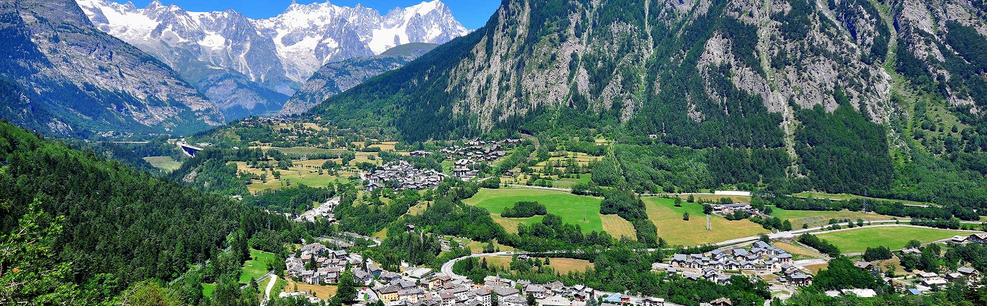 Entre les montagnes du Val d'Aoste au pied du Mont Blanc