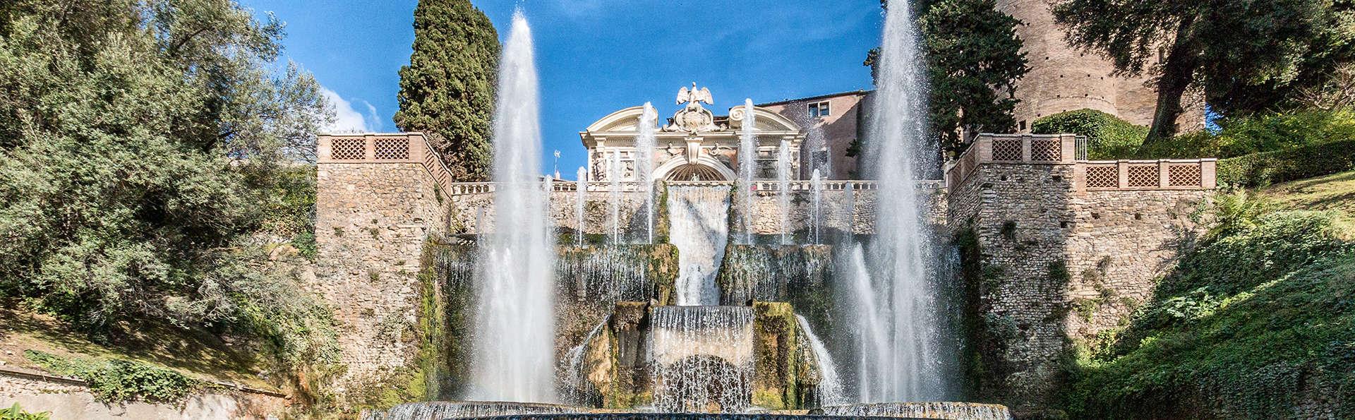Deux nuits à Tivoli, dans un château avec une superbe piscine et vue sur les cascades