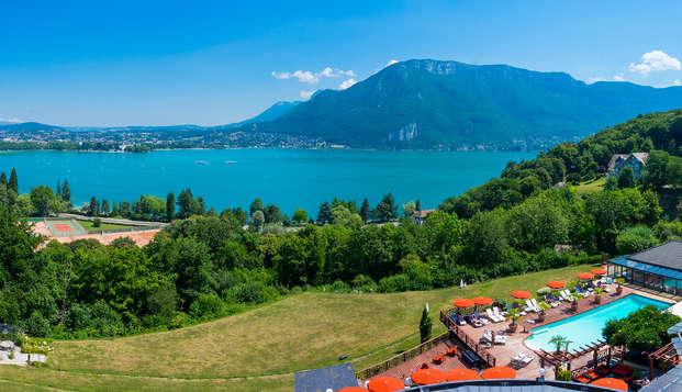 Détente et vue imprenable, au bord du lac d'Annecy