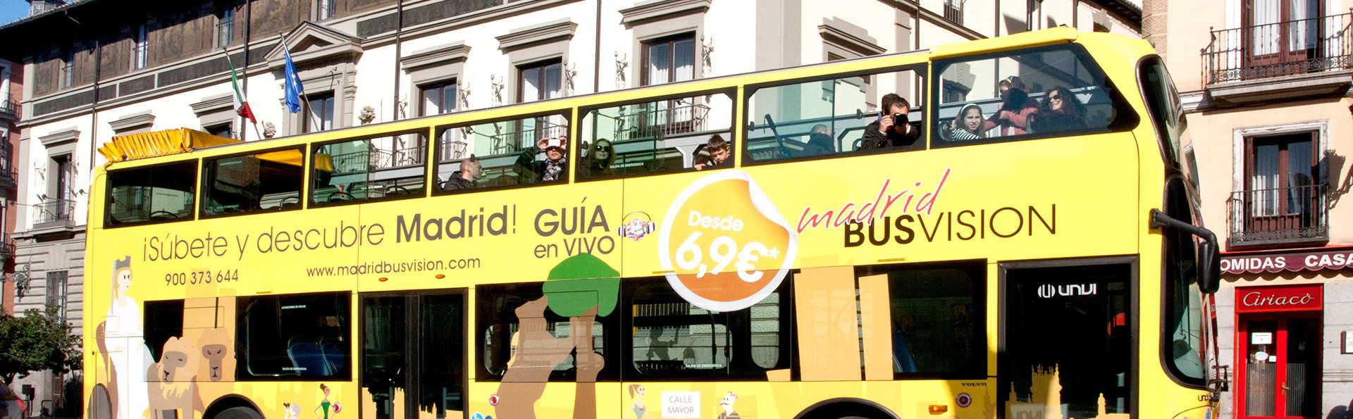 Escapada con cena y Bus Turístico en Madrid
