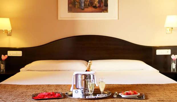 Escapade romantique à Biar avec dîner typique, cava et chocolats