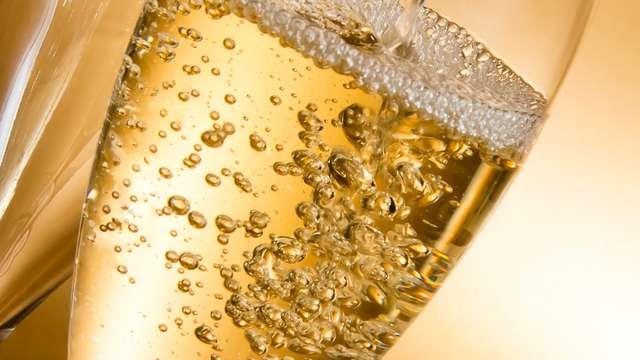 Fles mousserende wijn (crémant)