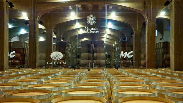 Visita VIP a la Bodega Marqués de Cáceres y cata de 4 vinos para 2 adultos