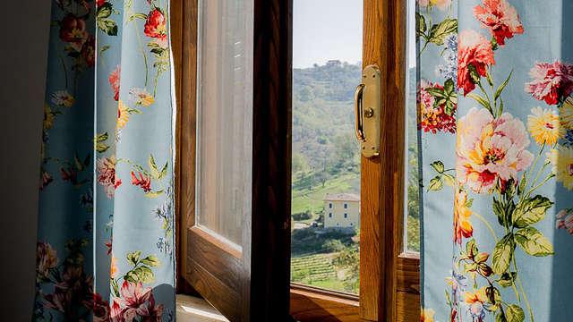 Pace e tranquillità tra il verde del Lazio con vista sulle montagne