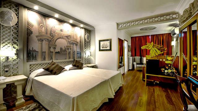 Romanticismo y relax en privado con bañera de hidromasaje en Figueres