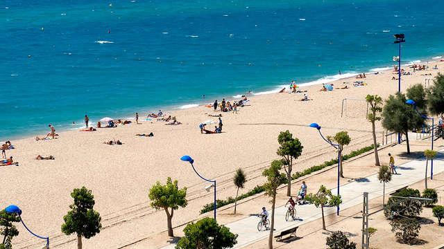 Sol y mar en primera linea de playa en Malgrat de mar