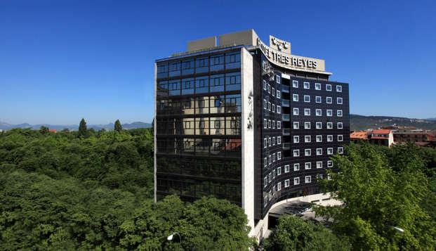 Escapada romántica en un céntrico hotel en Pamplona