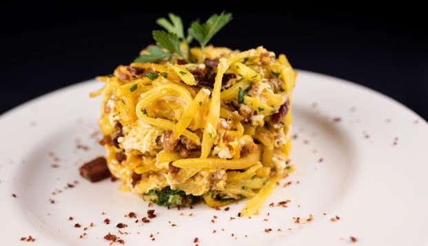 La mejor gastronomía navarresa en un hotel de diseño en pleno centro de Pamplona