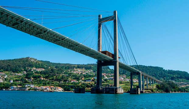 Confort y comodidad en un estudio con vista al mar en Pontevedra