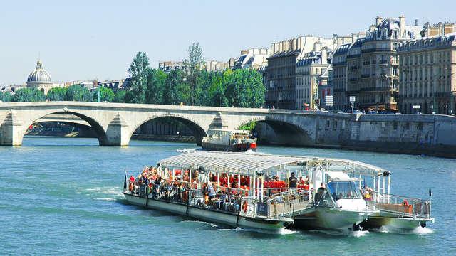 Croisière sur la Seine et chambre supérieure dans le XVIIe à Paris