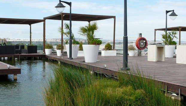 Escapada familiar en apartamento doble con visita al acuario fluvial de Zaragoza