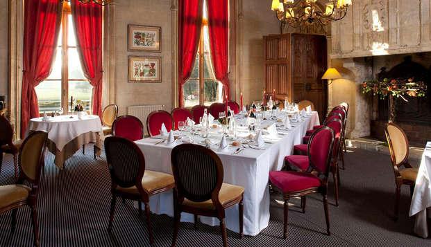 Gastronomie dans un superbe château à une heure de Paris